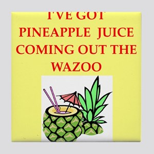 pineapple juice Tile Coaster