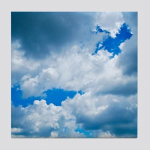 CUMULUS CLOUDS Tile Coaster