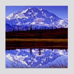 Mt. McKinley in Fall Tile Coaster