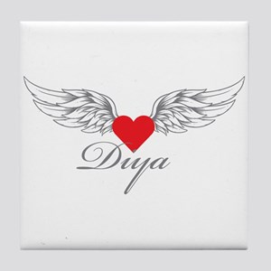 Angel Wings Diya Tile Coaster