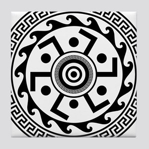 Greek Art - Decorative Circle Tile Coaster