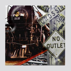 SQU Train Collage Tile Coaster