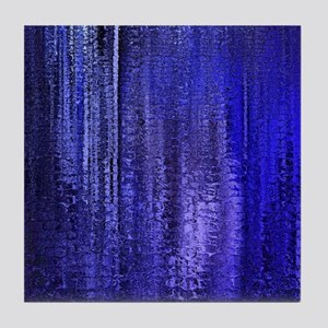 Abstract Blue Rain Tile Coaster