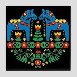 Swedish Dala Horse Tile Coaster