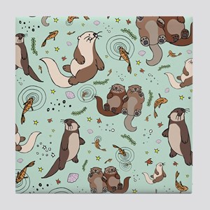 Otters Tile Coaster