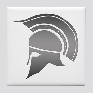 Ancient Greek Spartan Helmet Tile Coaster