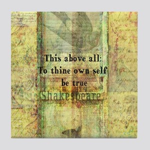 Shakespeare inspirational quote Tile Coaster