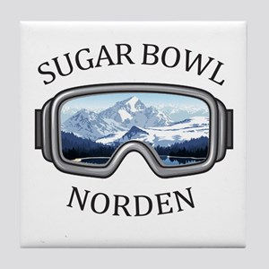 Sugar Bowl - Norden - California Tile Coaster
