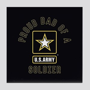 Proud Dad of A U.S. Army Soldier Tile Coaster