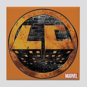 Luke Cage Grunge Icon Tile Coaster