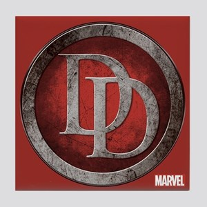 Daredevil Grunge Icon Tile Coaster