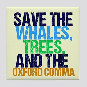 Oxford Comma Humor Tile Coaster