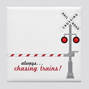 Chasing Trains! Tile Coaster