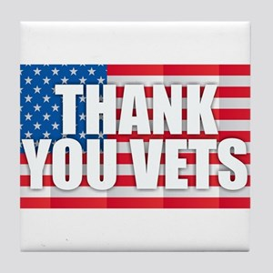 Thank You Vets Tile Coaster