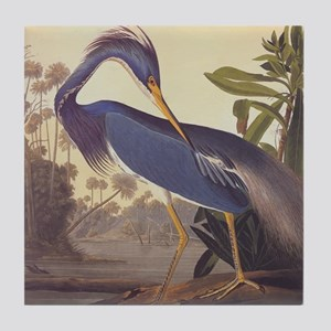 Louisiana Heron Tile Coaster