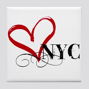 LOVE NYC FANCY Tile Coaster