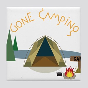 Gone Camping Tile Coaster