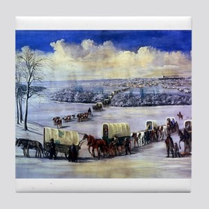 Wagon Train Tile Coaster
