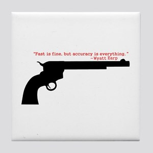 Wyatt Earp Quote Tile Coaster