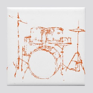 Drum Kit Drums Set Tile Coaster