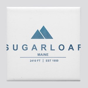 Sugarloaf Ski Resort Maine Tile Coaster