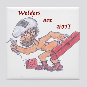 Welders are HOT!2 Tile Coaster