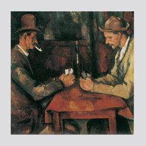 Cezanne The Card Players Tile Coaster