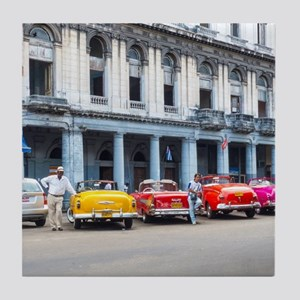 Cars of Havana Tile Coaster