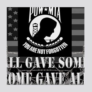 Pow-Mia All Gave Some Some Gave All Tile Coaster