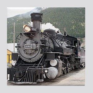 Steam train engine Silverton, Colorado, USA 8 Tile