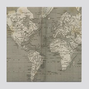 Vintage Map of the World (1820) 2 Tile Coaster