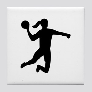 Womens handball Tile Coaster