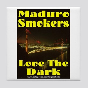 Maduro Smokers Cigar Tile Coaster