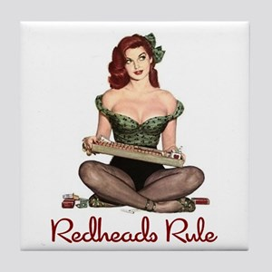 Redheads Rule Tile Coaster