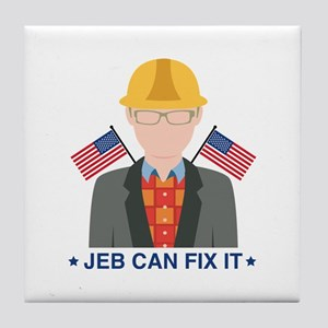 Jeb Can Fix It Tile Coaster