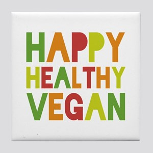 Happy Vegan Tile Coaster