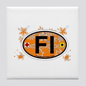 Fire Island - Oval Design Tile Coaster