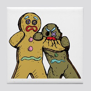 Gingerbread Zombies Tile Coaster