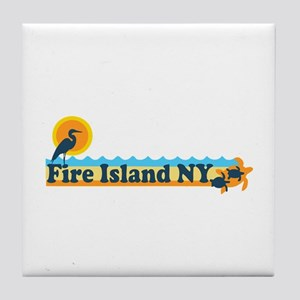 Fire Island - Beach Design Tile Coaster