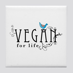 Vegan for life Tile Coaster