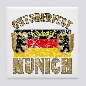 OKTOBERFEST Munich Distressed Tile Coaster
