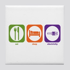 Eat Sleep Electricity Tile Coaster