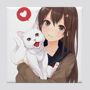 Catgirl Anime Cat Girl Coasters Cafepress