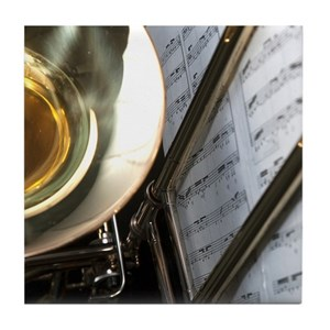 Trombone Music and Notes Flip Flop Tile Coaster