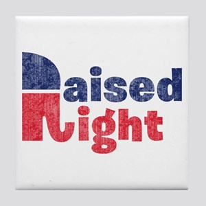 Raised Right 2 Tile Coaster