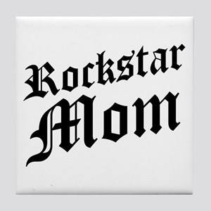 Rockstar Mom Tile Coaster