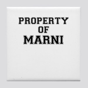Property of MARNI Tile Coaster