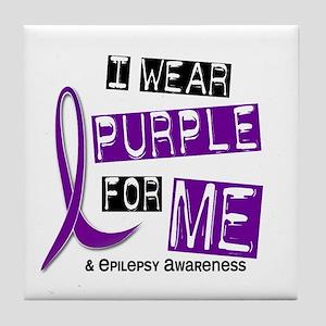 a4d34d2c I Wear Purple 37 Epilepsy Tile Coaster