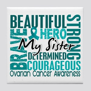 Tribute Square Ovarian Cancer Tile Coaster