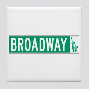 Broadway (with Statue of Liberty), NY Tile Coaster
